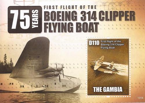 Gambia - 2013 Clipper Flying Boat - Stamp Souvenir Sheet - Scott #3492