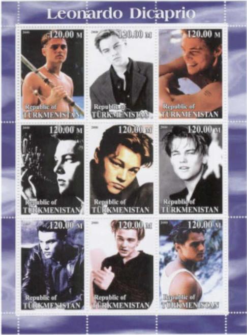 2000 Leonardo DiCaprio On Stamps - 9 Stamp  Sheet - 20D-118