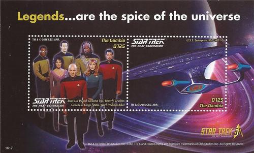 Gambia - 2016 Star Trek 50th Anniversary - Souvenir Sheet - 7L-022