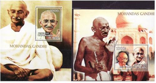 Gandhi - Set of 2 Mint Souvenir Sheets BEN621-2