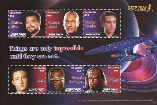 Gambia - 2016 Star Trek 50th Anniversary - 6 Stamp Sheet - 7L-020
