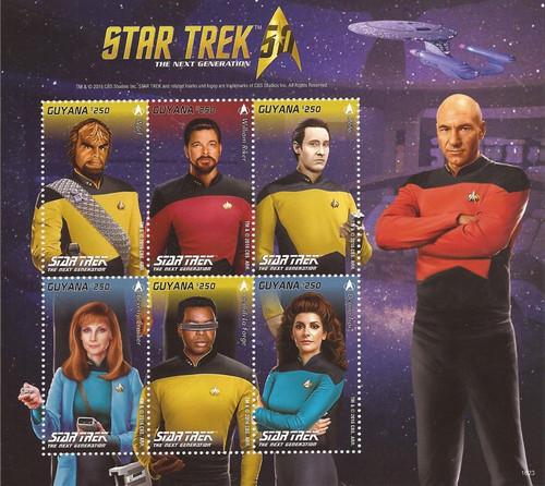 Guyana - 2016 Star Trek 50th Anniversary - 6 Stamp Sheet - 7C-020
