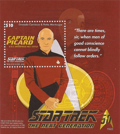Grenada - 2016 Star Trek Picard - Stamp Souvenir Sheet - 7J-027