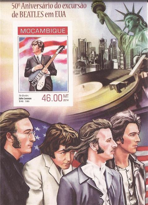 Mozambique - 2014 Beatles John Lennon - Souvenir Sheet - 13A-1671