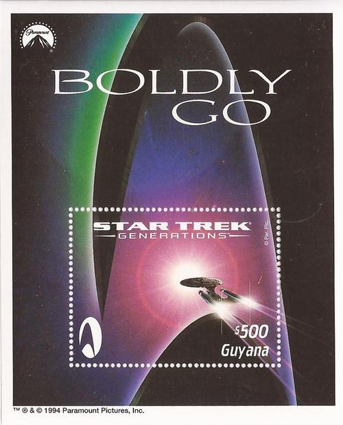 Guyana - 1994 Star Trek - Stamp Souvenir Sheet - Scott #2906 - 7C-022