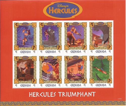 Grenada - 1998 Disney Hercules - 8 Stamp Sheet - 7J-021 Scott #2753