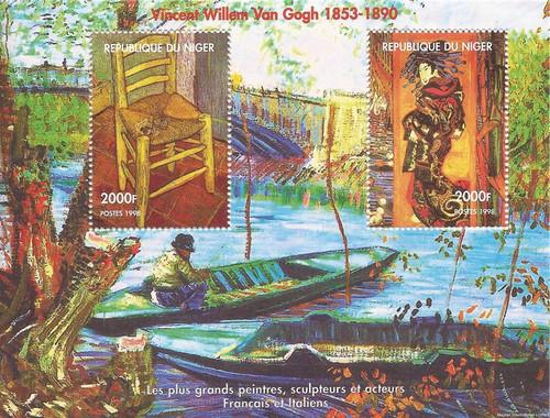 1998 Vincent Van Gogh Paintings - 2 Stamp Souvenir Sheet - 14A-690