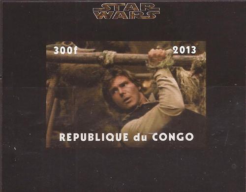 Congo - Star Wars Han Solo - Imperf Stamp Souvenir Sheet - 3A-476
