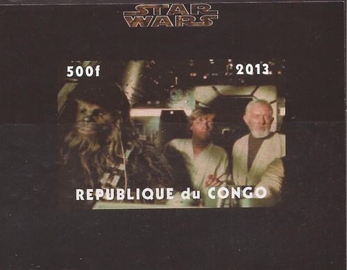 Congo - Star Wars Obi-Wan, Luke, Chewbacca - Imperf S/S - 3A-479