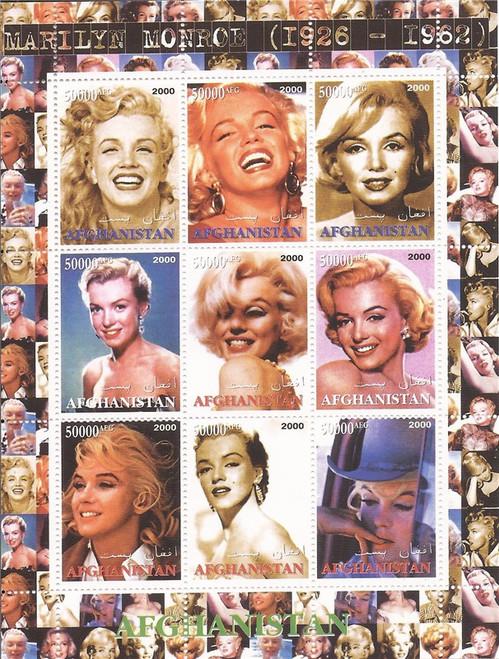 2000 Actress Marilyn Monroe - 9 Stamp Sheet - 1C-037