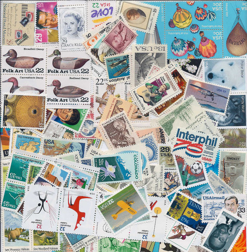100 Different Higher Value  US Stamps - All 13c Minimum Face Value