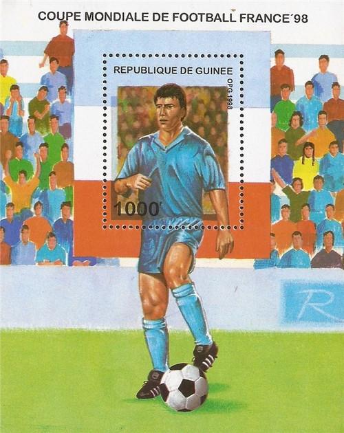 Guinea - 1998 World Cup Soccer - Souvenir Sheet - Scott #1449
