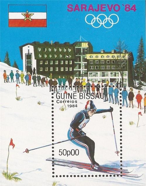 Guinea-Bissau - 1984 Sarajevo Winter Olympics - Souvenir Sheet #536
