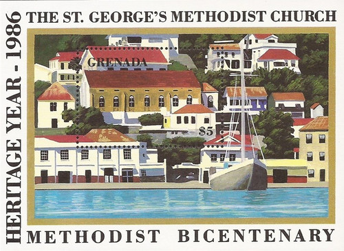 Grenada - 1986 Methodist Bicentenary - Souvenir Sheet - Scott #1360