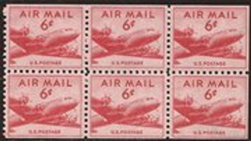 US Stamp - 1949 6c Airmail DC-4 Skymaster - Booklet of 6 Stamps #C39a