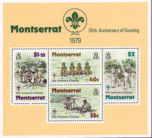 Montserrat - 1979 Boy Scouts - Stamp Souvenir Sheet - Scott #400a