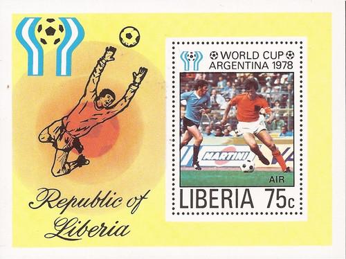 Liberia - 1978 World Cup Soccer - Souvenir Sheet - Scott #C220