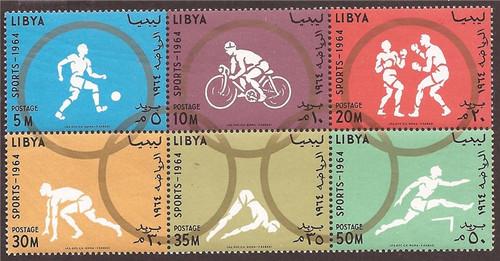 Libya - 1964 Tokyo Summer Olympics Soccer - Souvenir Sheet #263a