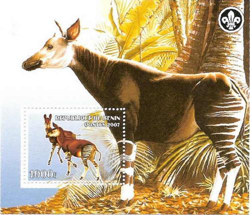 Okapis on Stamps - Mint Stamp Souvenir Sheet 2B-024
