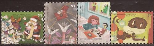 Argentina - 2008 Children's Songs & Literature - 4 Stamp Set #2487-90