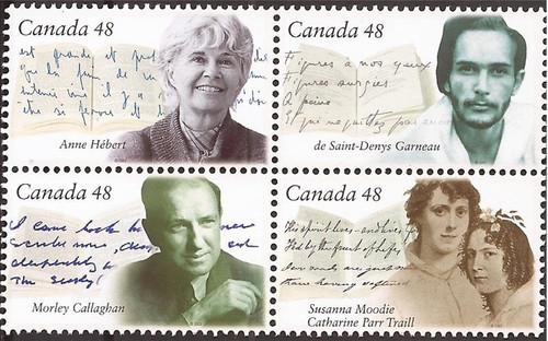 Canada - 2003 Canadian Authors - 4 Stamp Block - Scott #1997a