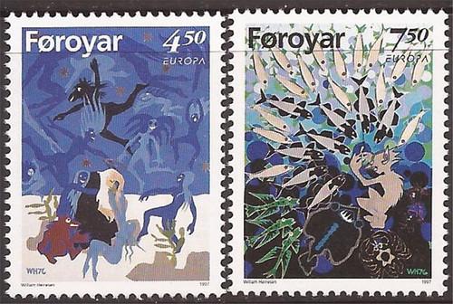 Faroe Islands - 1997 Legends - Europa - 2 Stamp Set - Scott #321-2