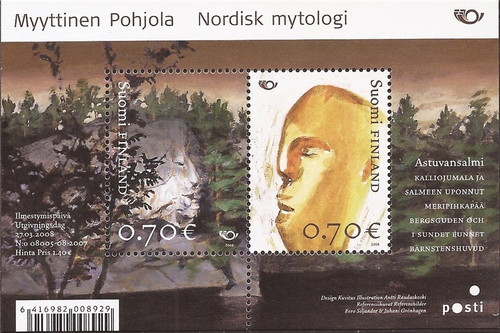 Finland - 2008 Mythical Places - 2 Stamp Sheet - Scott #1311