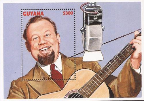 Guyana - 1996 Singer/Actor Burl Ives - Souvenir Sheet - Scott #3078