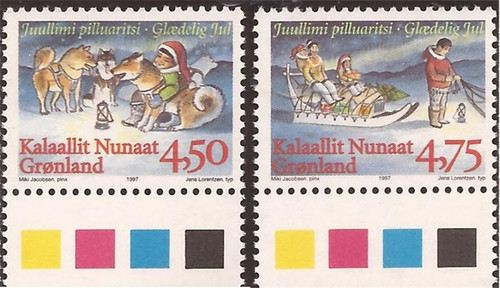 Greenland - 1997 Christmas - 2 Stamp Set - Scott #327-8
