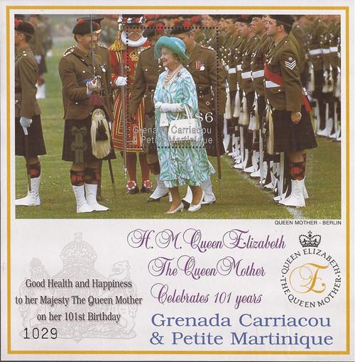 Grenada Grenadines - 2001 Queen Mother 100th Birthday - S/S #2370