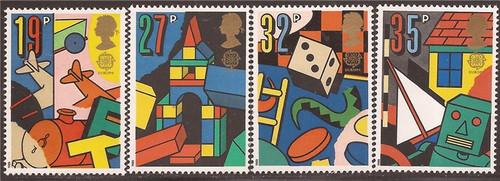 Great Britain - 1989 Europa Children's Toys - 4 Stamp Set #1256-9