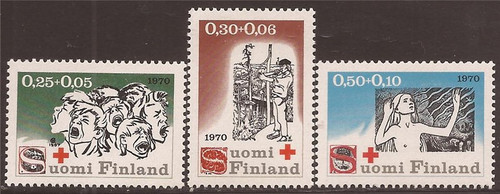 Finland - 1970 The Seven Brothers Illustrations - 3 Stamp Set #B188-90