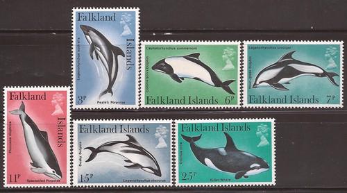 Falkland Islands - 1980 Marine Mammals - 6 Stamp Set - Scott #298-303