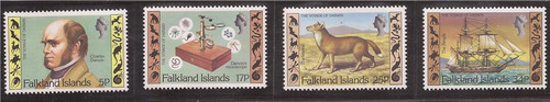 Falkland Islands - 1982 Charles Darwin - 4 Stamp Set - Scott #344-7