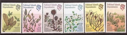Falkland Islands Dependencies 1981 Antarctic Flora 6 Stamp Set #1L53-8