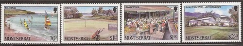 Montserrat - 1986 Tourism - 4 Stamp Set - Scott #639-42