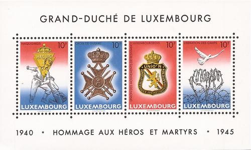 Luxembourg - 1985 End of World War II - 4 Stamp Souvenir Sheet #731