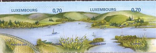 Luxembourg - 2007 Sure Lake - Stamp Pair - Scott #1225