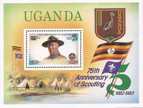 Uganda - 1982 Scouting Year & Baden-Powell - Souvenir Sheet #355