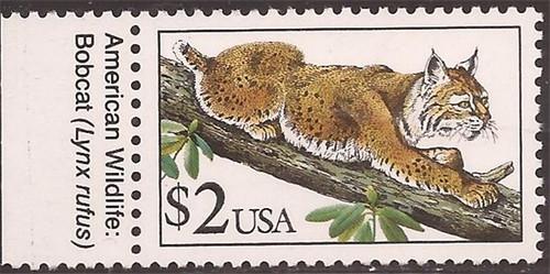 US Stamp - 1990 $2 Bobcat - Stamp - Scott #2482