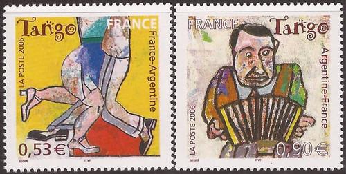 France - 2006 Tango Dancing - 2 Stamp Set - Scott #3224-5
