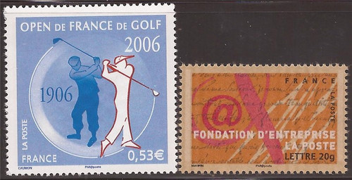 France - 2006 2 Different Stamps - Golf, Business Foundation #3226-7