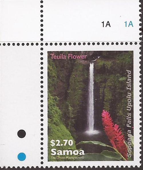 Samoa - 2013 Sopoaga Falls & Teuila Flower - Stamp - Scott #1154
