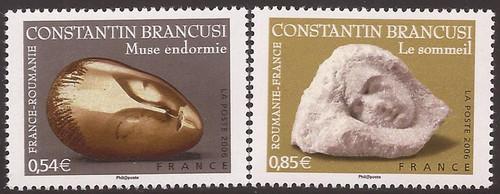 France - 2006 Brancusi Sculptures - 2 Stamp Set - Scott #3245-6