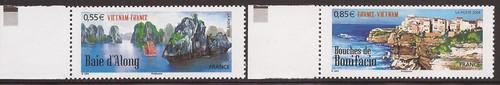 France - 2008 Viet Nam & France Seascapes - 2 Stamp Set #3519-30