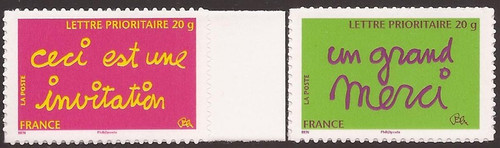 France - 2008 Greetings Invitation & Thank You - 2 Stamp Set #3569A-B
