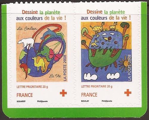 France - 2008 Red Cross - Stamp Pair - Scott #B715-6