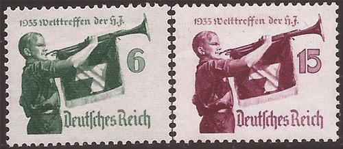 Germany - 1935 Youth Meeting - 2 Stamp Set MH - Scott #B463-4