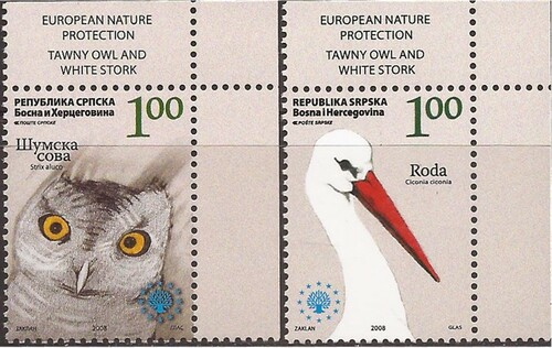 Bosnia & Herzegovina (Serb Admin) - 2008 Birds - 2 Stamp Set #341-2