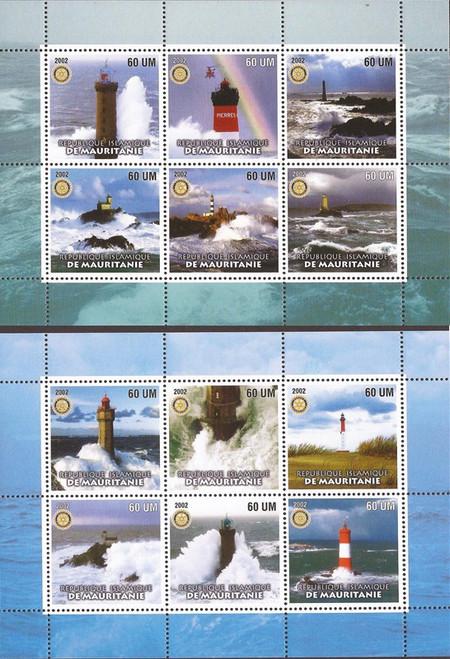 Mauritania - 2002 Lighthouses - Set of 2 6 Stamp Sheets 13C-004